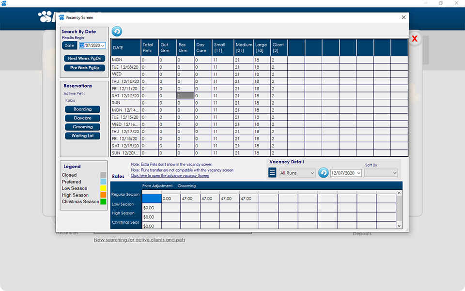 grooming scheduling software